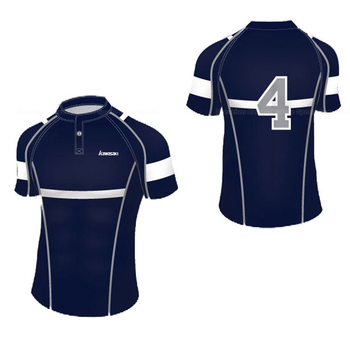 Black Blue Contrast Sublimation Sports Uniform Plain Jerseys Soccer T-shirt Football Team