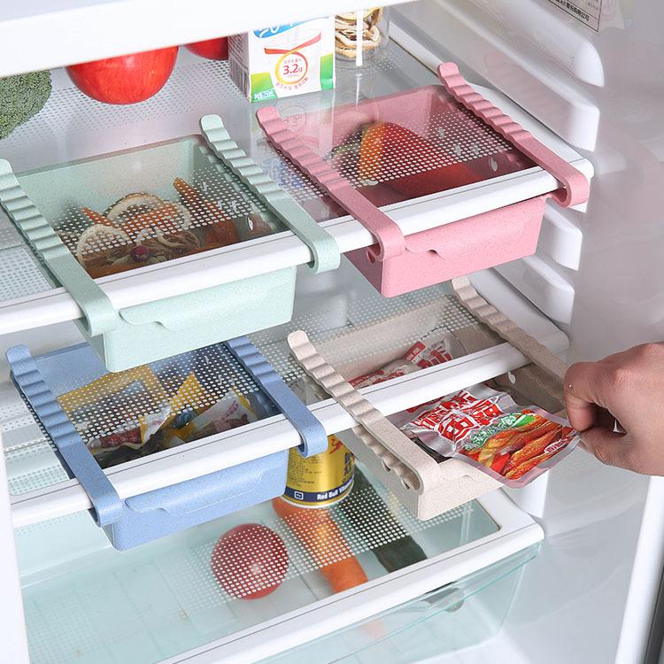 Creative Multifunction Kitchen Freezer Shelf Holder Hanging Refrigerator Storage Rack