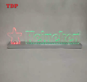 Fartory Custom Table Counter Top Clear 3D Logo Acrylic light LED Stereoscopic Letter Sign Board