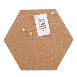 customized Hexagon Memo Pin Board Decoration for Pictures,Mini Wall Bulletin Board