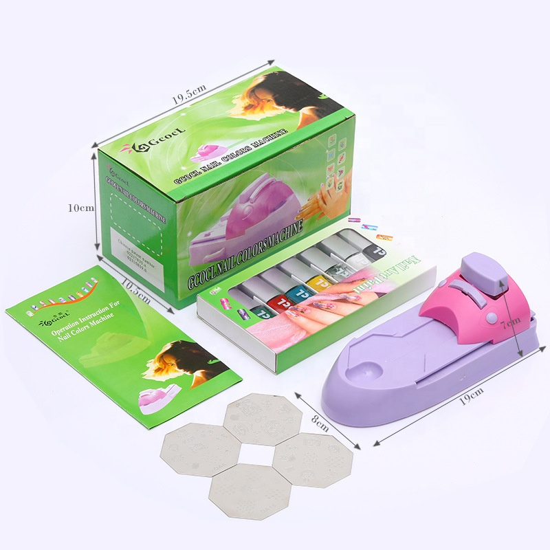 DIY nail art printing machine for stamping nail art nail printer, Purple