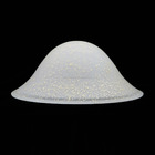 Hotsale Yellow Painted Frosted Glass Hat Lamp Shade Light Cover for light