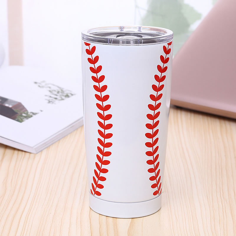 Alibaba.com / YiJia 20oz stainless steel double wall basketball soccer ball beer mug for party