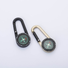 Custom Keychain Portable Zinc Alloy Carabiner Compass for Outdoor hiking camping Sports