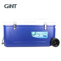 Hot Selling Large 80 Litre Insulated Cool Box Ice Chest Cooler With Wheels Handle For Picnic Fishing
