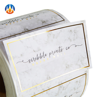 Custom Logo Product Package Gold Foil Labels Stickers