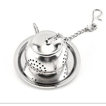 eco friendly Stainless Steel Silver bulk Tea Accessories wholesale Strainer Tea infusers with handle