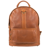 Double Color Brown leather saddle bags hot selling laptop backpack China backpack