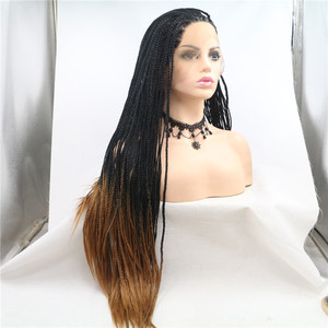 Hot Sexy Natural Braided Wigs Long Braids Full Wigs Synthetic Lace Front Wigs for Black Women Heat Resistant