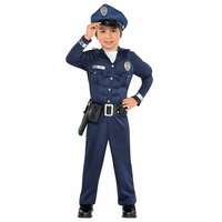 PGCC6446 Policeman cop costume boys child kids for carnival halloween