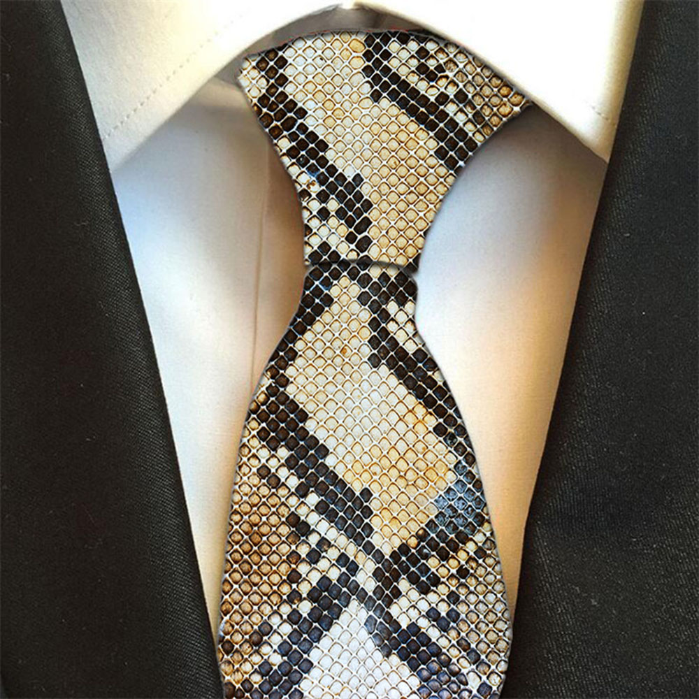Hot 3D Printed animal design ties For Men Fashion 8cm Width Ties Cute Funny Kawaii Zebra Leopard Snake Casual Get Together Ties