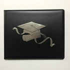 Custom book style with clear protective cover padded vinyl diploma folder