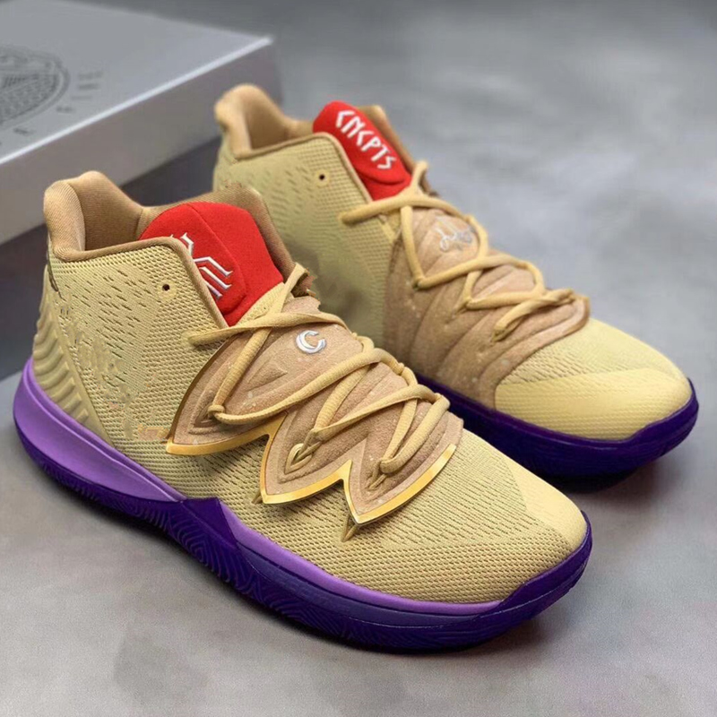 Custom Logo Concepts X Kyrie 5 lkhet Men Basketball Shoes Men Kyrie5 Zoomtubro Kicks tenis Sport Basket Sneakers free shipping