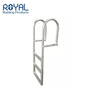 Aluminum Dock Edge Welded Fixed Wide Step Dock Ladder