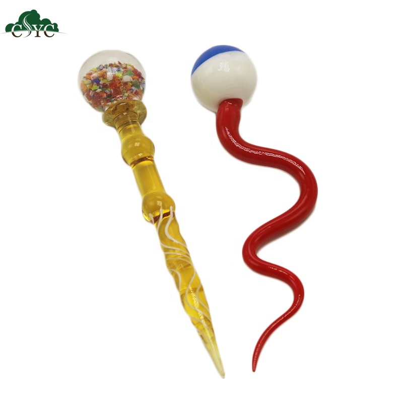 5 Inch Dabber Stick Electronic Cigarette Wax Dry Herb Atomizer Vaporizer Oil Dab Dabber Tool, Colorful