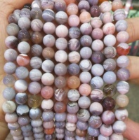 Natural Pink Botswana Agate Beads For Sale