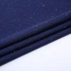 100% Cotton Jersey Fabric Jersey Dark Blue Color Dot Polyester Cotton Single Jersey Knitted Fabric Polyester