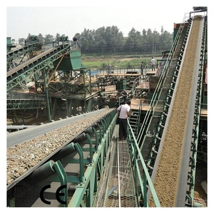 belt conveyor with circular conveyor belt