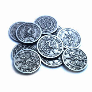 Customized Made Metal Tokens Board Game Coin , Game Coin