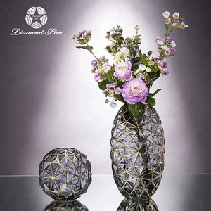 Pulse Performance & Wholesale safe packing home Decorative 13inch Oval round Glass Flower Vase cheap tall glass vases