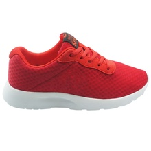 New design knit comfort red color fashion athletic sneaker sport shoes men
