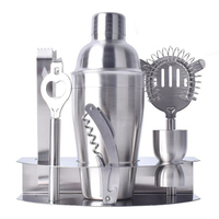 FDA Certification Professional Bartender 6pcs Stainless Steel Stand Delux Cocktail Shaker