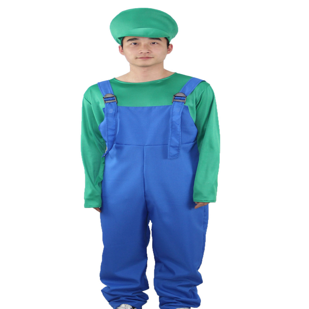 Groothandel unisex Halloween Carnaval verjaardag cartoon cosplay Fancy Dress Super Mario party kostuum