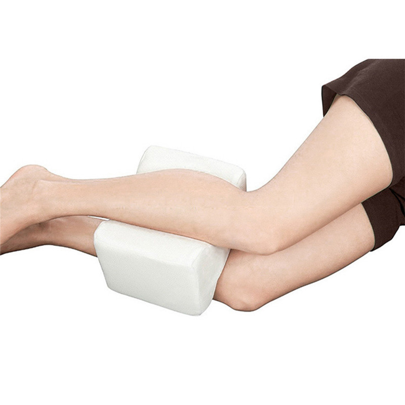 Healthy Memory Foam Orthopedic Knee Pillow with Cooling Gel & Adjustable Strap