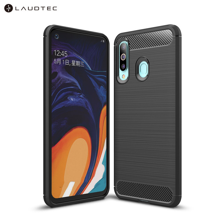 Carbon Fiber Tpu Silicone Back Cover Phone Case For Samsung Galaxy A60