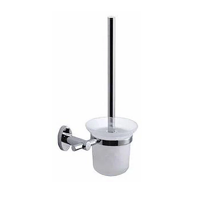 TBG3 Frosted Glass Toilet Brush Holder With Stainless Steel Brush