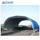 Xuzhou LF Arched space frame steel structureDry coal storage shed yard for power plant price for sale