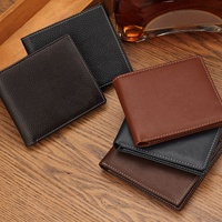 2019 Wholesale New Designer Best Brand Purse Custom Fashion Vintage Style Genuine Business Mens Leather Wallet