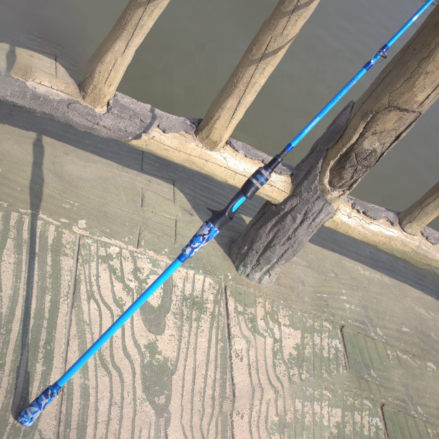 Goofish Solid Nano Tesh Slow Fall Jigging PE 3-6 Slow Pitch Jigging Rod 1 or 2 Piece Model Jig 150-350g with FUJI Guide, Blue
