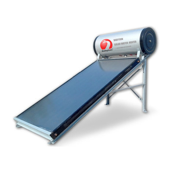 Universal solar water heater panel unpressurized compact solar heating for family