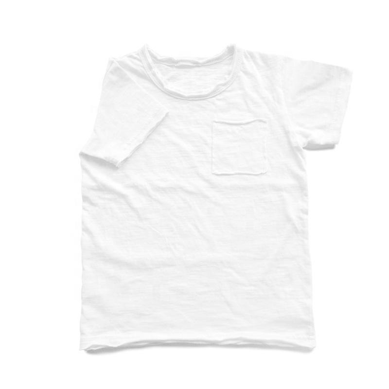 Summer wholesale custom slub cotton jersey plain toddler baby t-shirts