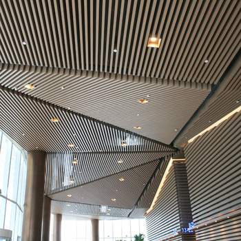 Cost Price Aluminum Baffle Wood Finish Ceilings System