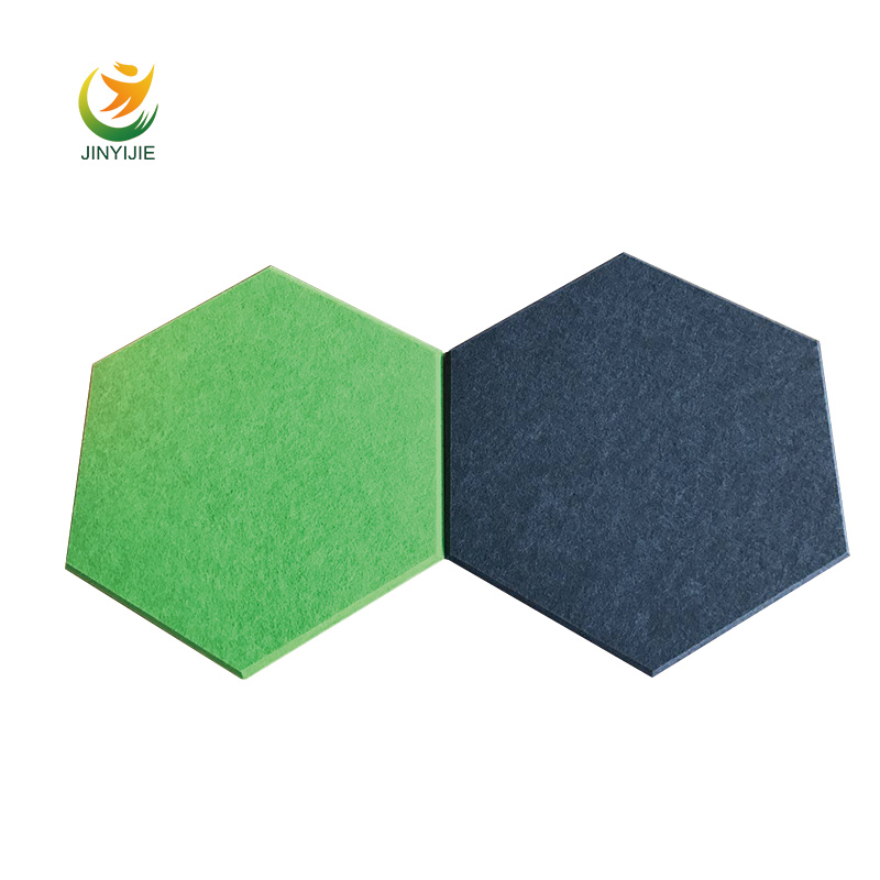 Hot sale hexagon soundproof polyester fabric acoustic wall foam <strong>panel</strong> acoustic with special price