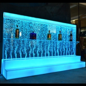 Indoor bar furniture floor standing water bubble panel wall led wine cabinets