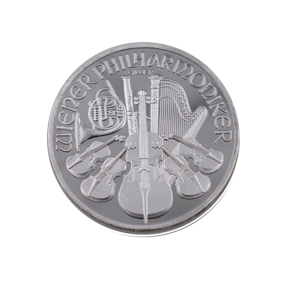 Vienna Grand Theatre Silver Coin Custom Embossed Design <strong>Metal</strong>
