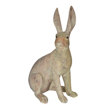 High quality rabbit ornaments outdoor small resin garden decoration animal  status