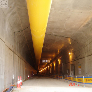 Low leakage high efficiency tunnel and mine project ventilation ducting canvas