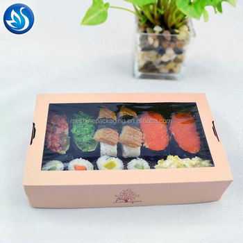 High Quality Custom Design Paper Food Packaging Carry Sushi Box