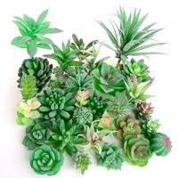 Factory 4-9 cm mini decorated plastic flowers Flower arrangement accessories artificial succulent plants