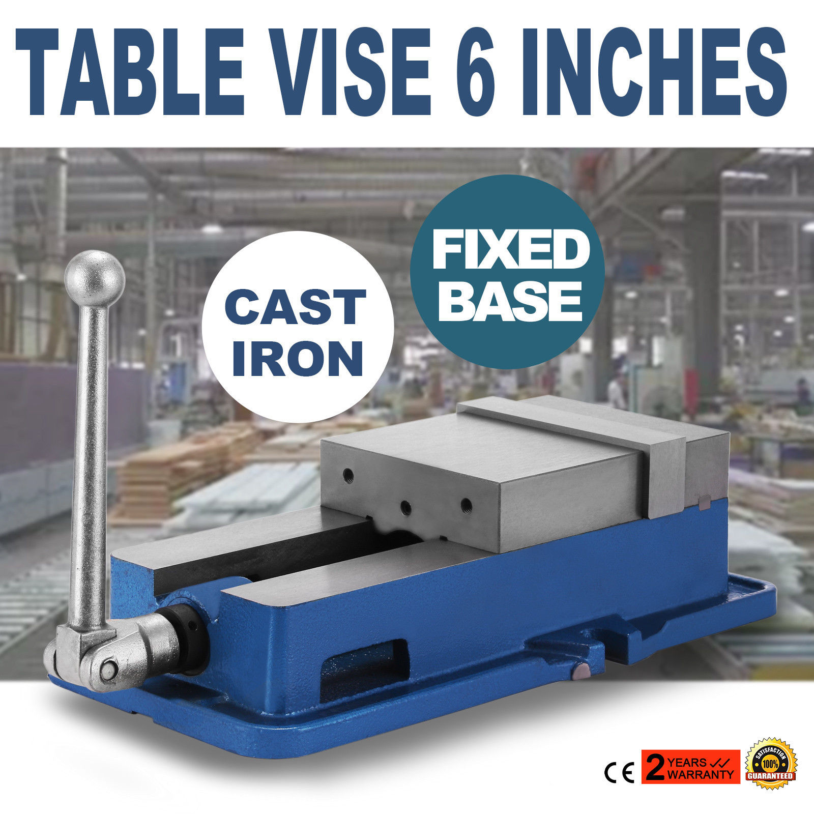6 Inch Vise Precision Milling Drilling Machine Clamp Vice Fixed Base NEW <span style=