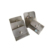 Customized jewellery grey envelop flap velvet jewelry dust pouch with button