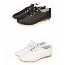 New Leather Ladies Flats Shoes Comfortable Women Outdoor Casual Shoes