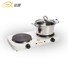 JX-6245A <span class=keywords><strong>Listrik</strong></span> 2000W Double Burner Solid Hot Plate <span class=keywords><strong>Kompor</strong></span>