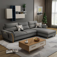 Cheers Barcelona Grey Modern Design Sectional Soft Living Room Furniture
