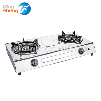 China High Quality Environmental protection Two Burner Stainless Steel Gas Stove Cooktops