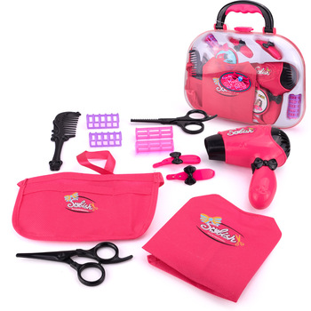 kids plastic electric hair drier beautyworld princess set girls pretend play dressing kit toys cosmetics makeup case